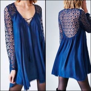 Urban Outfitters Ecote navy lace dress small NWT!